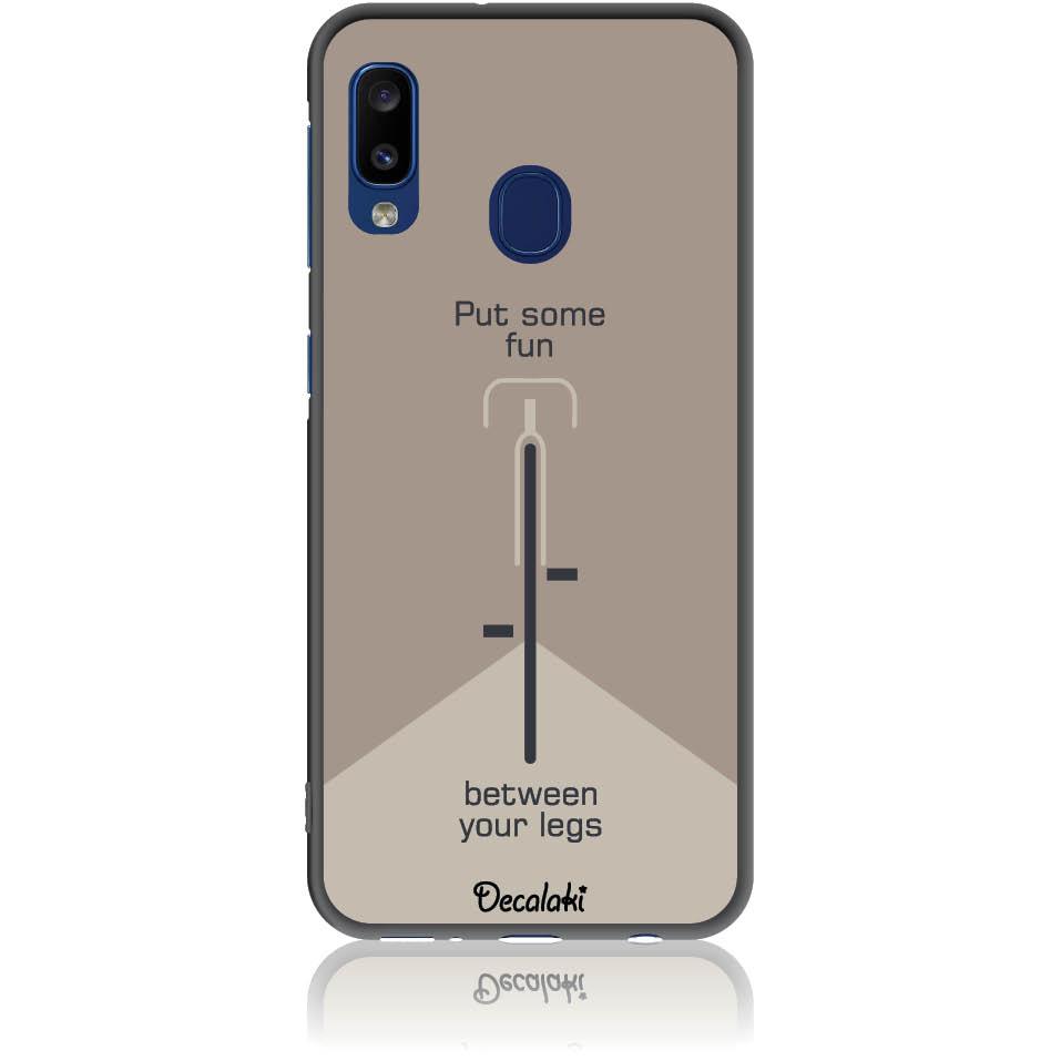 Put Some Fun Cycle Lovers Phone Case Design 50290  -  Samsung Galaxy A20e  -  Soft Tpu Case