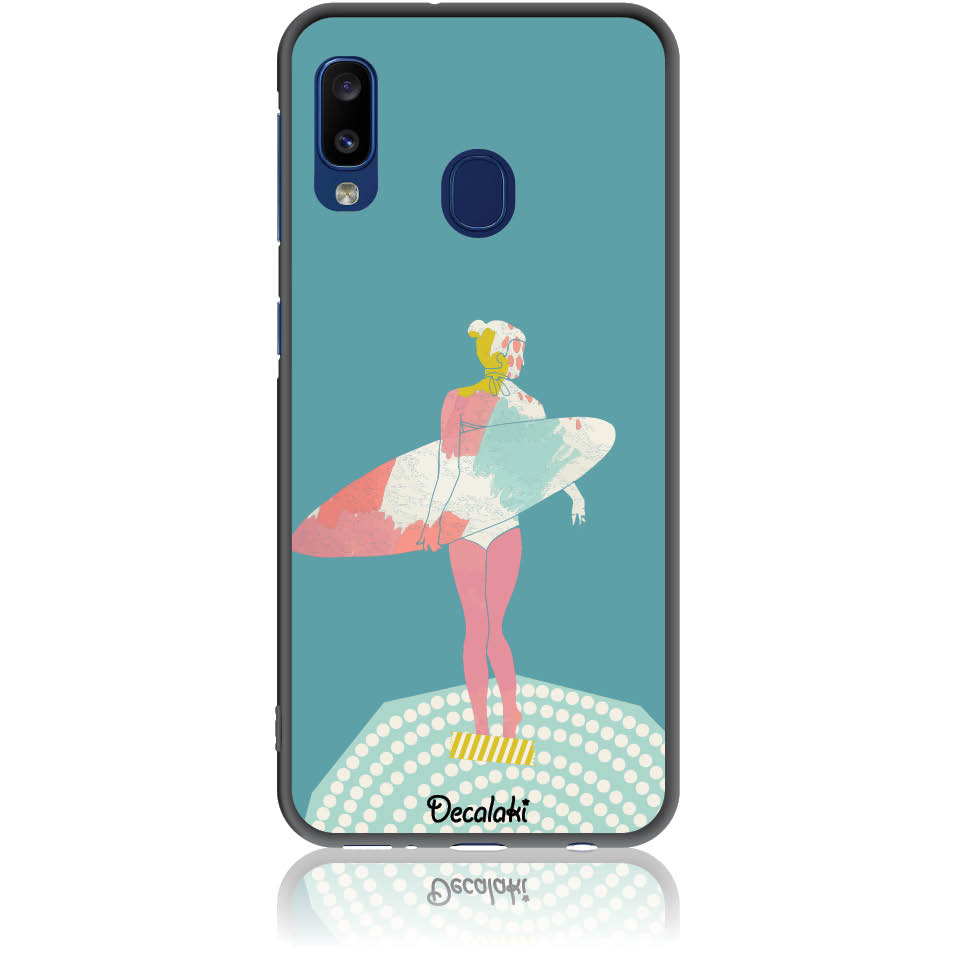 Surf Girl Phone Case Design 50306  -  Samsung Galaxy A20e  -  Soft Tpu Case
