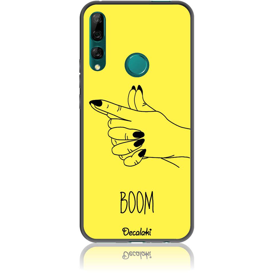 Yellow Boom Girl Gung Phone Case Design 50319  -  Huawei Y9 Prime 2019  -  Soft Tpu Case