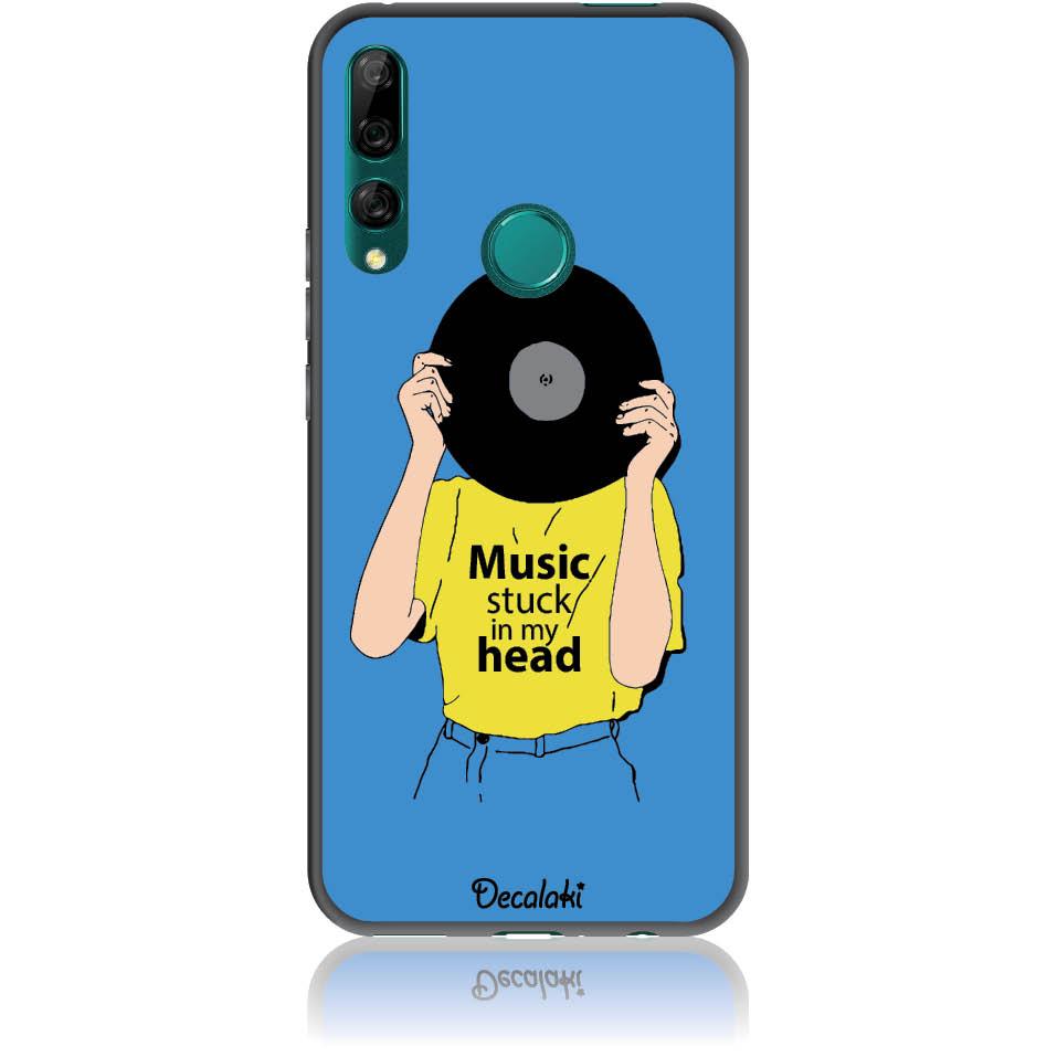 Music Stuck In My Head Phone Case Design 50339  -  Huawei Y9 Prime 2019  -  Soft Tpu Case