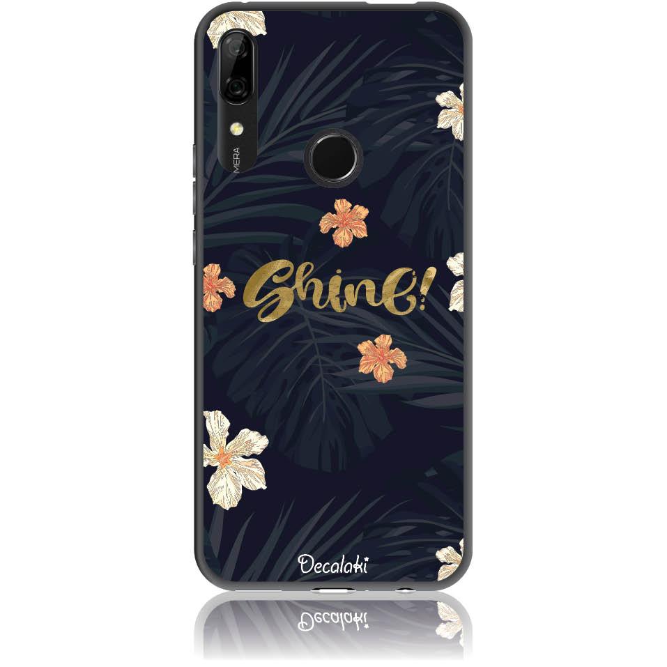 Shine On Dark Floral Phone Case Design 50393  -  Huawei P Smart Z  -  Soft Tpu Case