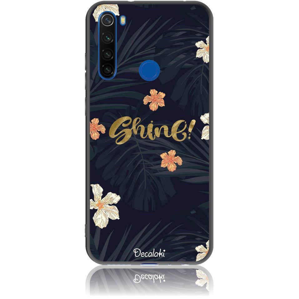 Shine On Dark Floral Phone Case Design 50393  -  Xiaomi Redmi Note 8  -  Soft Tpu Case