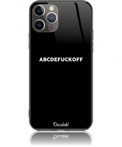 ABCDEFUCKOFF Black Phone Case Design 50188