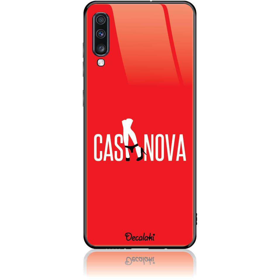 Case Design 50349  -  Samsung Galaxy A70  -  Tempered Glass Case