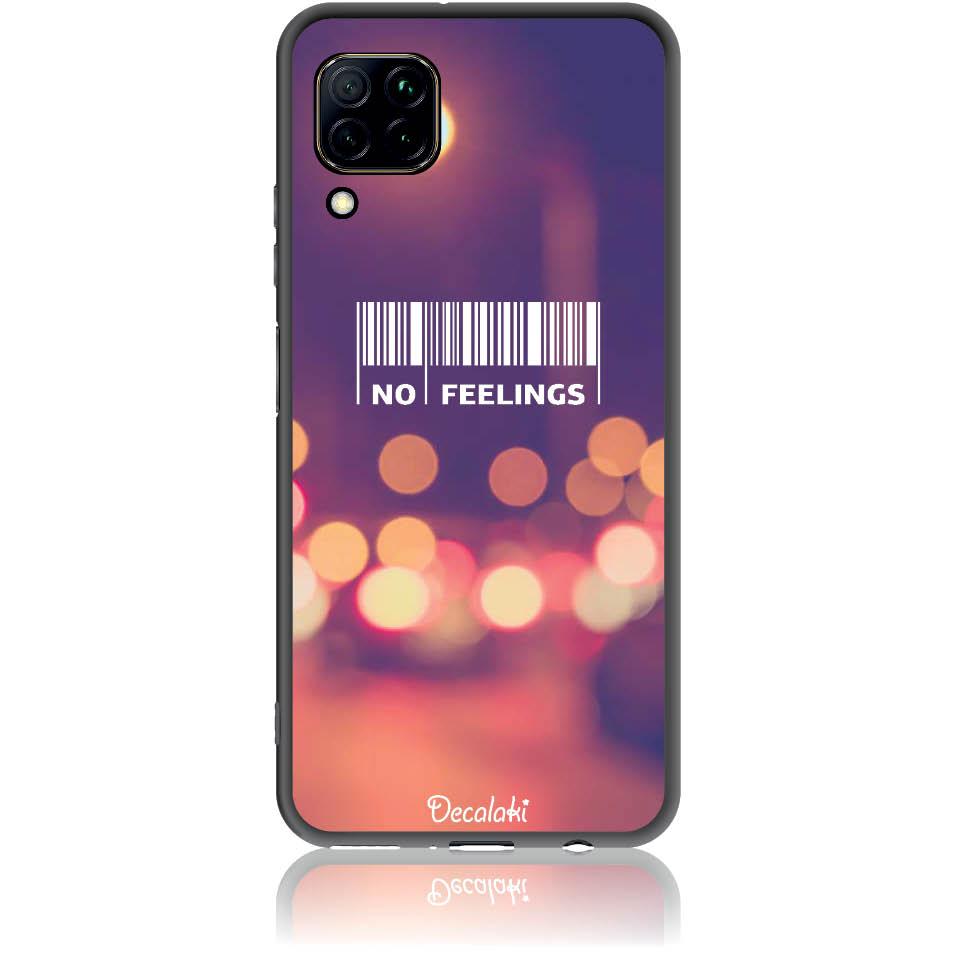 No Feelings Barcode Phone Case Design 50223  -  Huawei Nova 7i  -  Soft Tpu Case