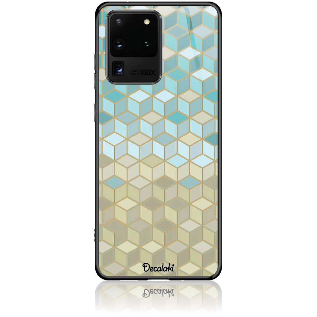 Pattern Phone Case Design 50034  -  Samsung S20 Ultra  -  Tempered Glass Case