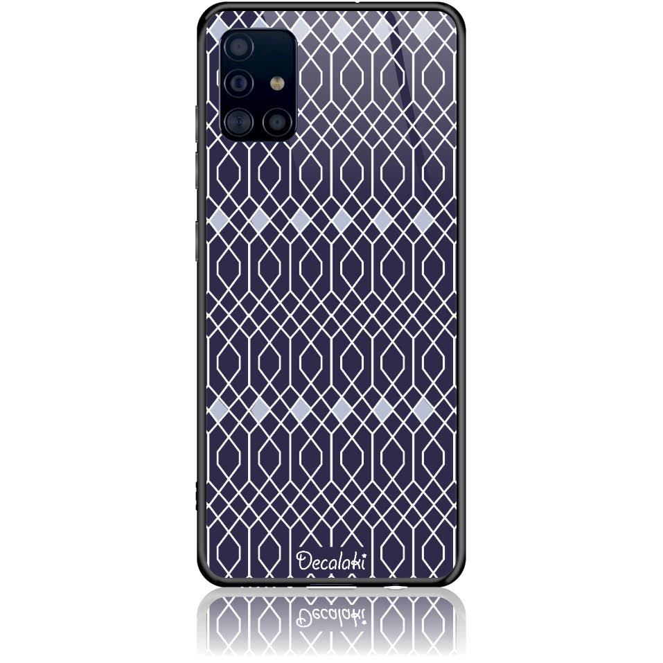Rhombus Pattern Phone Case Design 50037  -  Samsung Galaxy A51  -  Tempered Glass Case