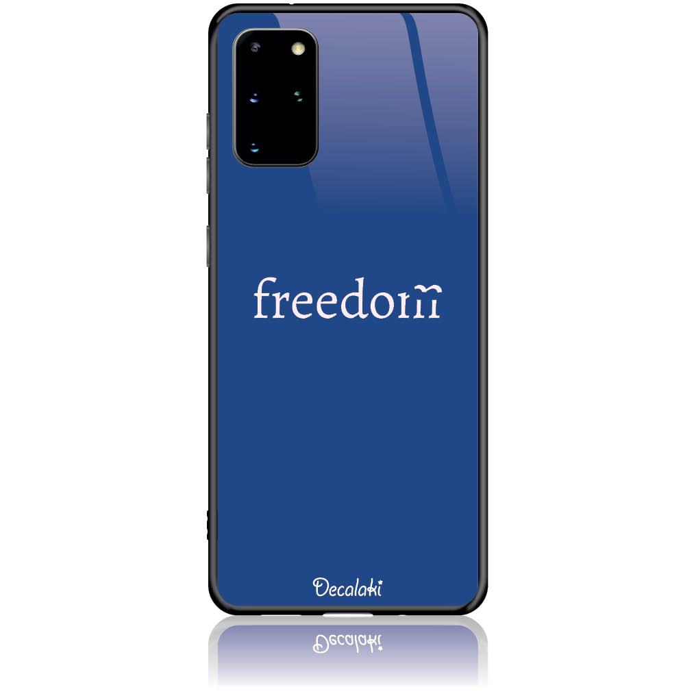 Freedom Blue Phone Case Design 50307  -  Samsung S20 Plus  -  Tempered Glass Case
