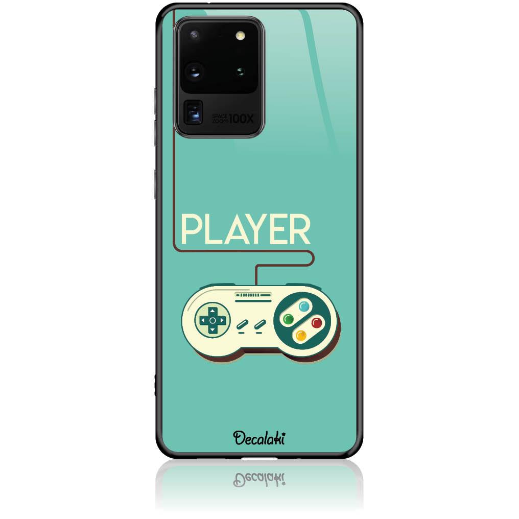 Player Phone Case Design 50442  -  Samsung S20 Ultra  -  Tempered Glass Case