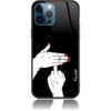 Reveal Your Thoughts Middle Finger Art Phone Case Design 50002