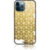 Gold Cubes Phone Case Design 50038