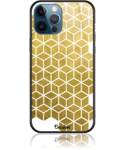 Gold Cubes Phone Case Design 50038