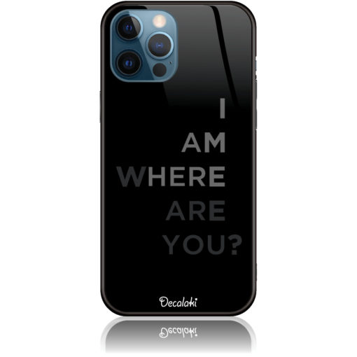 Where Are You? black art Phone Case Design 50107