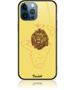 Wild and Free Yellow Lion Head body Phone Case Design 50190
