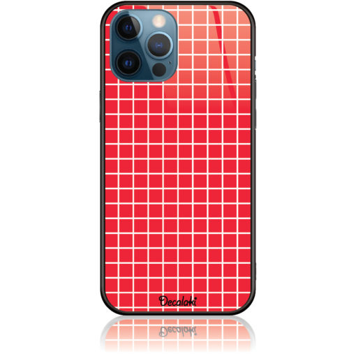 Red Checked Pattern Phone Case Design 50224