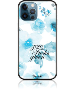 Zero Fucks Given Blue Floral Pattern Phone Case Design 50264