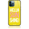 Hello Sunshine Yellow art Phone Case Design 50377