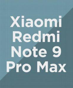 Customize Redmi Note 9 Pro Max